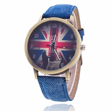 2018 Hot Fashion Design UK Flag Watches men women Casual Faux Leather Dress Quartz Wrist Watch Retro Unisex relogio masculino все цены