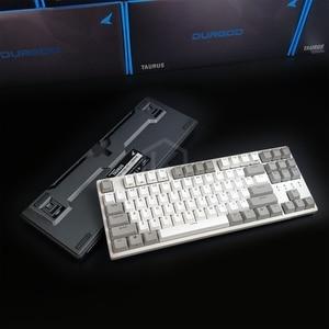 Image 2 - Durgod 87 taurus k320 clavier mécanique utilisant des commutateurs cherry mx pbt doubleshot keycaps marron bleu noir rouge argent commutateur