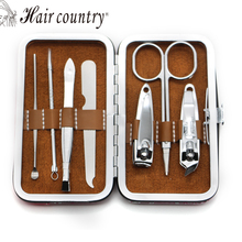 7pcs Nail Clipper Kit Nail Care Set Pedicure Scissor Tweezer Knife Ear pick Utility Manicure Set Tools