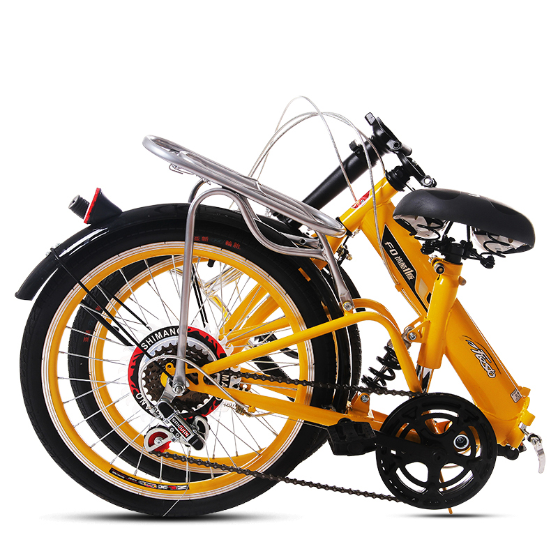 Folding Bike 20 Inch Portable With Variable Speed Shock Absorber Bicycle Adult Male And Female Students