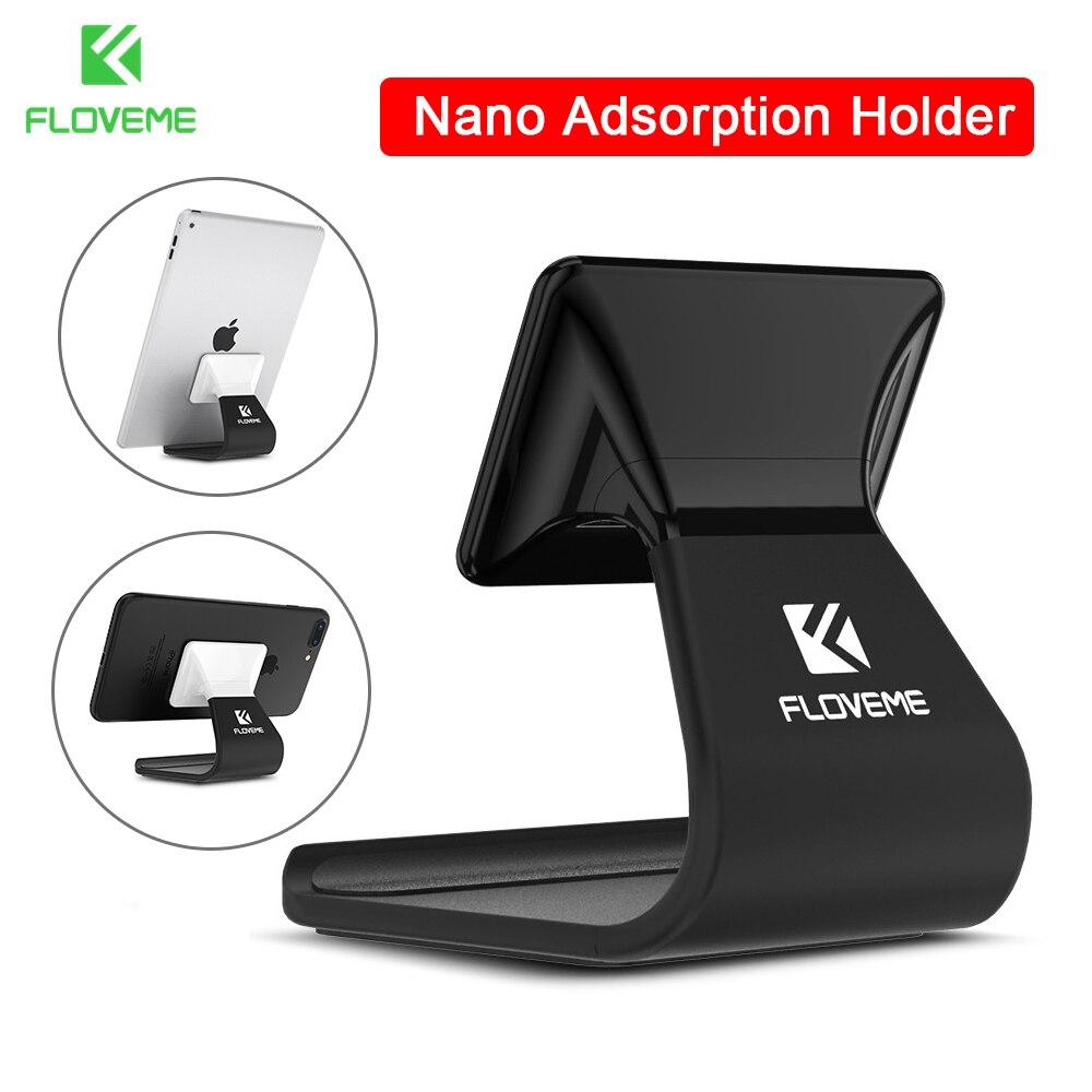 FLOVEME Phone Holder For iPhone 8 Case iPad Nano Adsorption Phone Holder For Samsung S8 Note 8 Adjustable Desk Holder