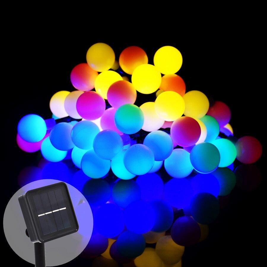 Étanche 50 LED Solaire Jeu de Lumières Globe Lampe Éclairage Décoratif Pour La Maison Jardin Patio Pelouse Parti Twinkle Éclairage