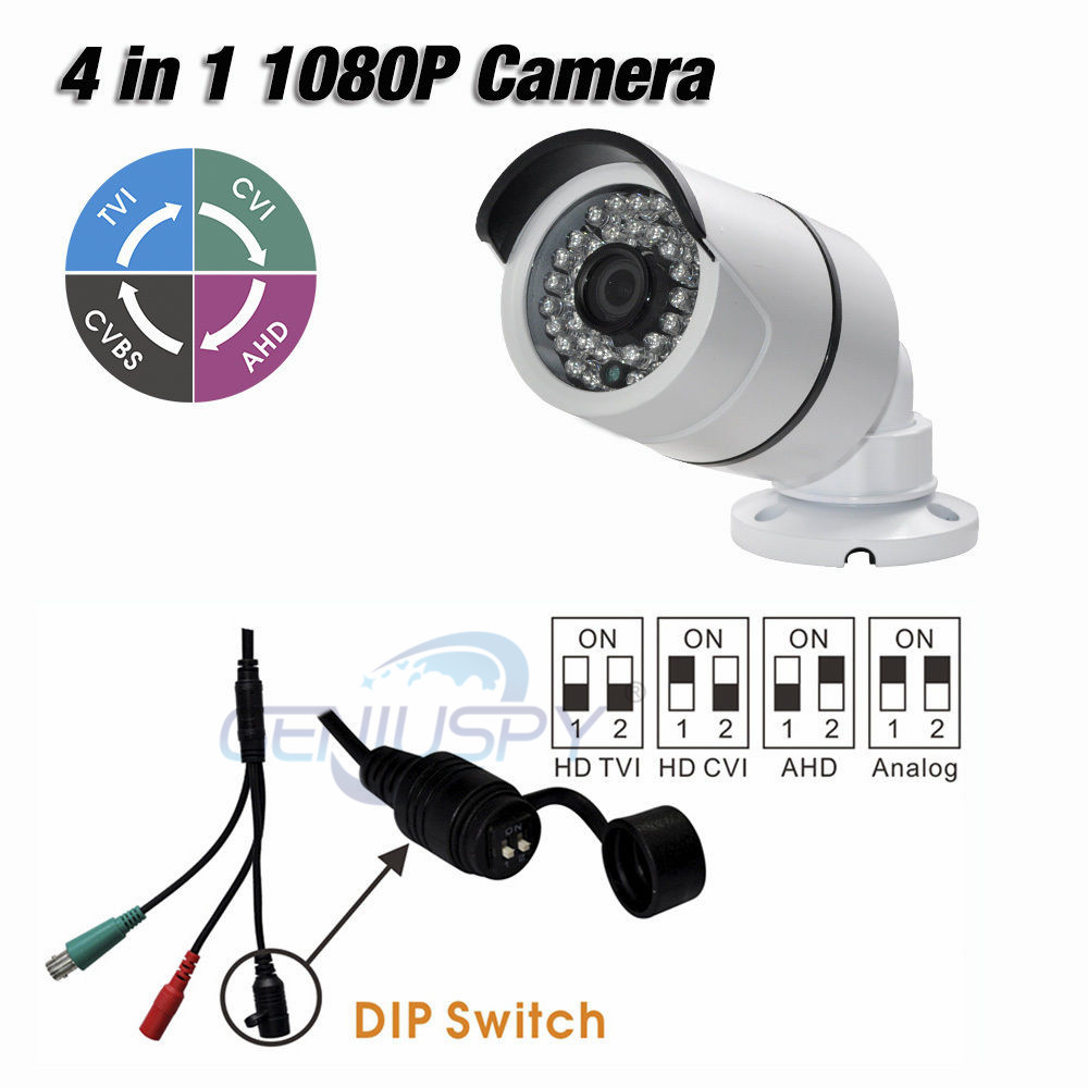 36Pcs IR Leds Night Vision AHD TVI CVI Analog 1080P 4 IN 1 Mini IR Bullet Camera 2MP Nextchip 2441H +Sony 323 Outdoor IP66 bullet camera tube camera headset holder with varied size in diameter
