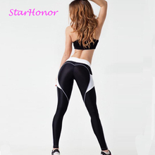 StarHonor Breathable Stretched Sport Pants Gym Clothes Running Tights Women Stitching Sports Leggings Fitness Push Up Yoga