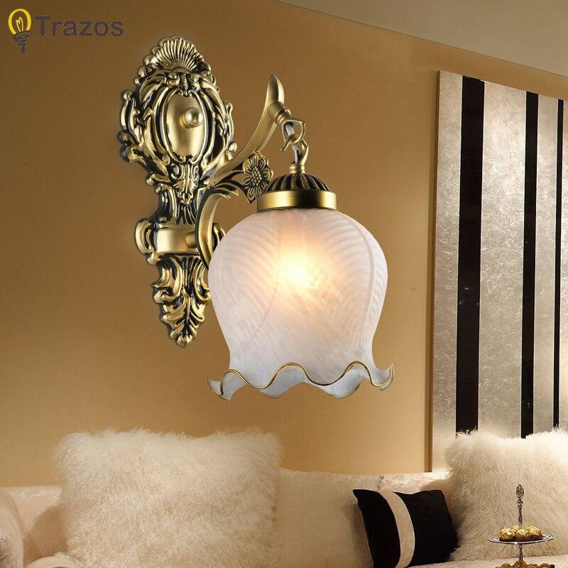 2018 chegada nova venda quente lâmpada de parede genuíno zinco do vintage luz da parede artesanal ouro alta qualidade pingente lâmpada lampada led