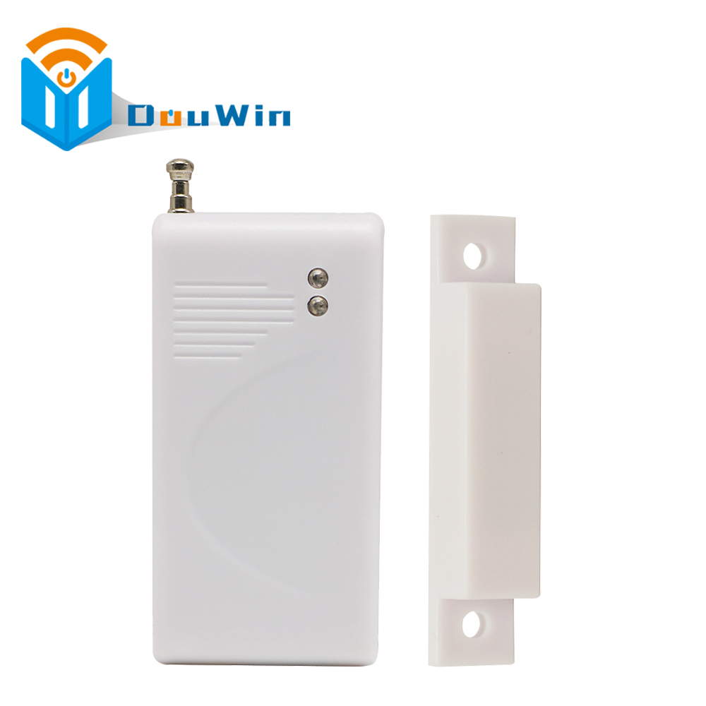 Wireless Sensor door detector,magnetic contact,door contact 433mhz for home security alarm system Wireless Door Magnetic Sensor wireless multi function door sensor magnetic window detector for security alarm system automatic door sensor 433mhz