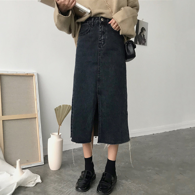 Cheap Wholesale 2018 New Summer  Hot Selling Women's Fashion Casual  Sexy Denim Skirt L20 1