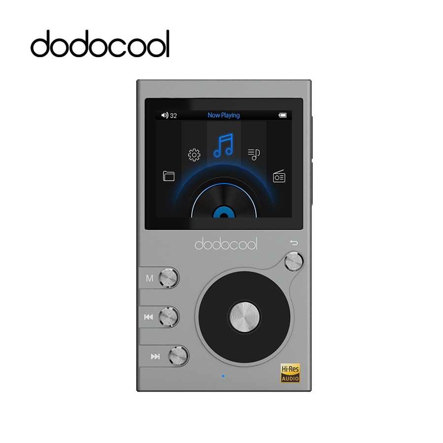 dodocool 8GB lossless HIFI Music Player MP3 Player Support DSD 64 128 256 WMA Audio Player Recorder FM Radio Expandable 256GB TF
