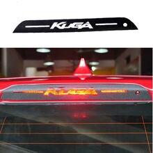 Etiqueta do carro 3D Fibra De Carbono luz de Freio traseiro Para Ford Kuga Fuga 2013-14 1 pc