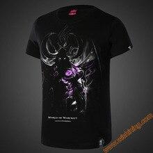 2017 New Blizzard WOW Game Movie T-shirts Men Boy Illidan Stormrage Black Tshirts