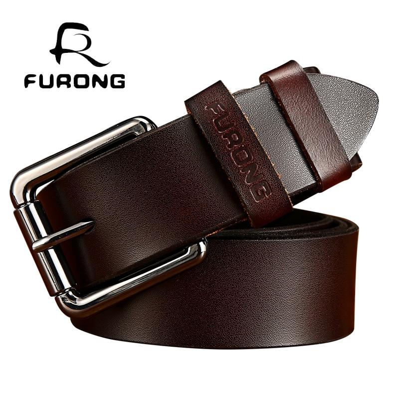 De lujo de correa de los hombres de cuero genuino lleno-grano hombre  diseñador hebilla de cinturón de cuero los hombres de alta calidad de  vintage hombre ... 6d8fd8ddf7fe