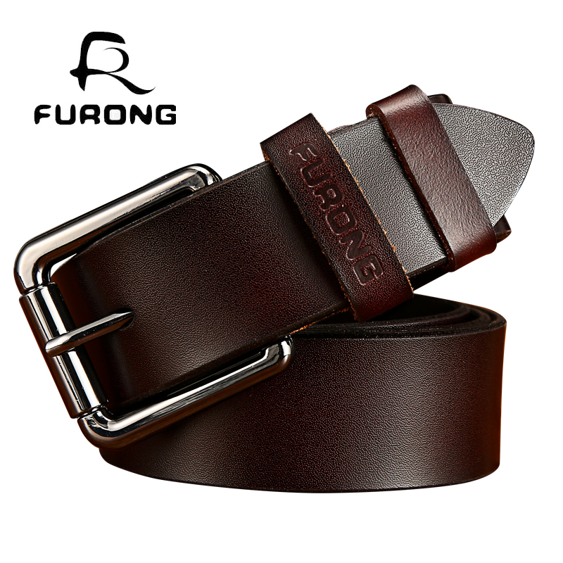 luxury men belt genuine leather full-grain male designer belt buckle real leather belt men high quality vintage look male belts