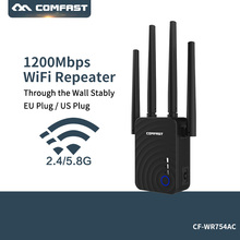 Dual Band Wireless Wi-Fi Repeater Extender 1200Mbps WIFI Router Access Point With 4 External Antennas Comfast CF-WR754