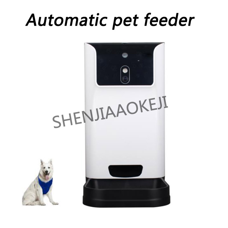 0.6W Automatic pet feeder 5V Cat and dog timing Specified quantity feed Dog food feeder Voice video 1pc 5 5l automatic pet feeder with voice message recording and lcd screen large smart dogs cats food bowl dispenser pet products