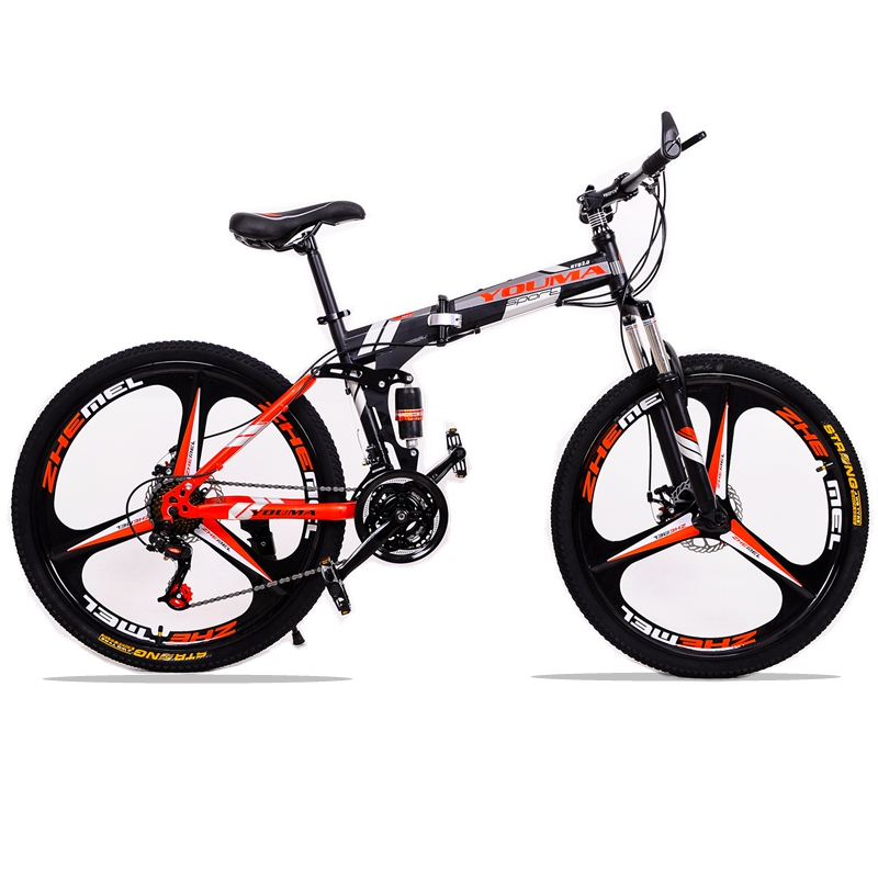 24speed 26inch Folding bike road bike Double disc brakes folding mountain bikes student bicycle bicicleta you ma 26 inch 21 24 27 speed aluminum alloy frame mountain bike double disc brakes student bicicleta bicycle free shipping