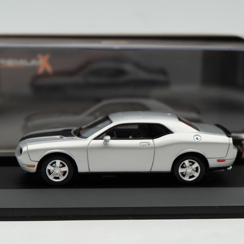 IXO Premium X 1 43 Dodge Challenger SRT8 2009 Silver PR0033 Collection Resin Auto Models Diecasts