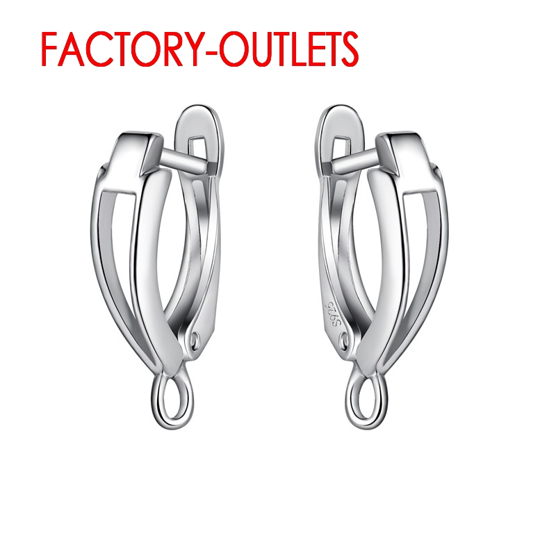 925 Sterling Silver Earrings Findings For Home Made DIY Jewelry Parts Price For Single Pair High Quality Silver Simple Design