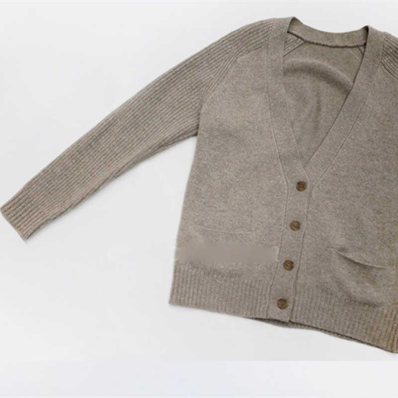 Женский вязаный Кашемировый Кардиган с длинным рукавом, женский свитер на весну и осень, вязаный теплый кардиган, женские модные трендовые Топы