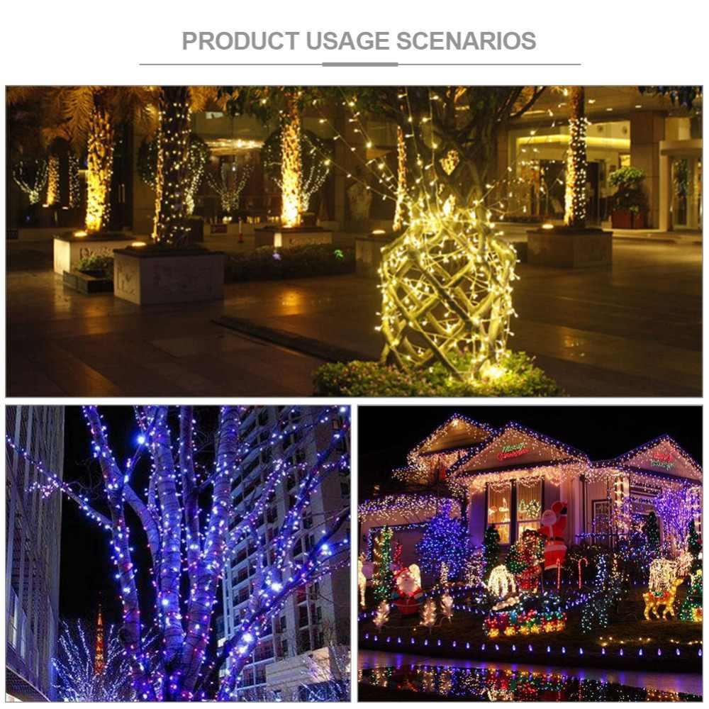 50/100/200 Светодиодные ленты наружные фонари работающие на солнечной энергии светодиодный строки Фея праздник для рождественской вечеринки гирлянды сад газон декоративные лампы