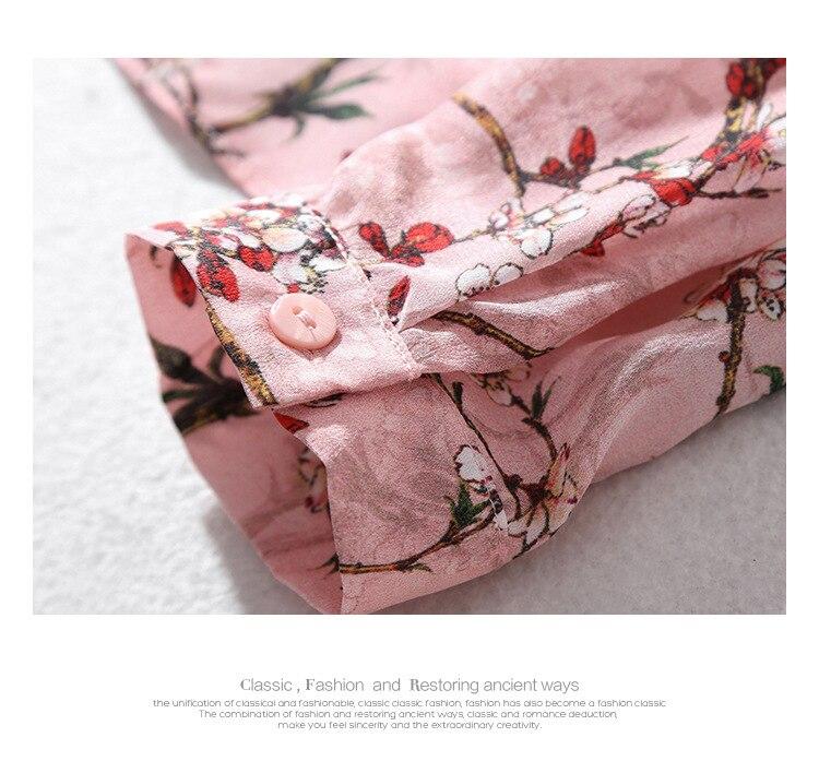 Manches Tops Printemps Longues Arc Q075 Haute 2019 Femmes Blouse Mode Impression 100 À Automne Floral Nouveau Qualité Blouses Shirt Slik gUAUBq