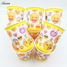 10pcs/lot Emoji Party Supplies Paper Cup Cartoon Birthday Decoration Baby Shower Theme Boys party