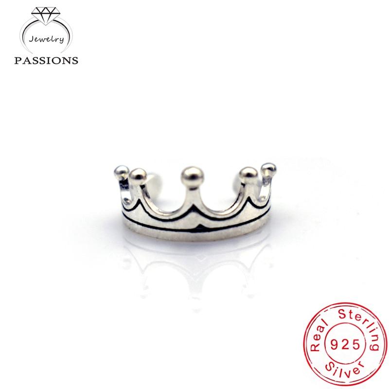 थोक फैशनेबल गहने 925 अलक प्लेट क्राउन के छल्ले आकार देने योग्य विंटेज पंक शैली की अंगूठी और पैर की अंगुली की अंगूठी लड़की के गहने के छल्ले उपहार के लिए