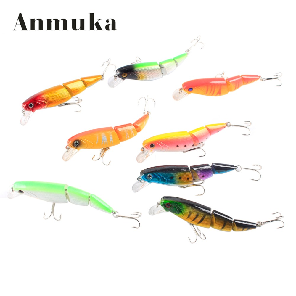 Anmuka Swimbait Jointed Top Water Minnow Fishing Lures Hook Crankbait Bait Bass 3 Sections 10cm Fishing Accessories wldslure 1pc 54g minnow sea fishing crankbait bass hard bait tuna lures wobbler trolling lure treble hook