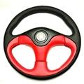 New Universal Fits Racing Sport 13128/350mm Suede Deep Dish Alloy Steering Wheel