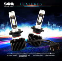 SEALIGHT H4 H7 H11 H1 9005 9006 LED Car Headlight Bulb Car Styling Hi Lo Beam