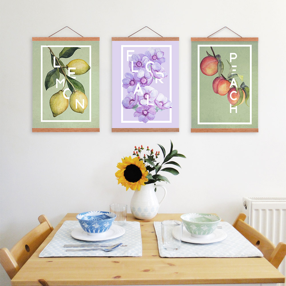 Home Kitchen Decor Picture Fresh Fruit Salad Wall: Aliexpress.com : Buy 3 Piece Food Quote Poster Print