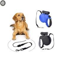 TKM 5M Dog Leash Rope LED Night Lights Pets Retractable Leash Leash Rope For 20KG
