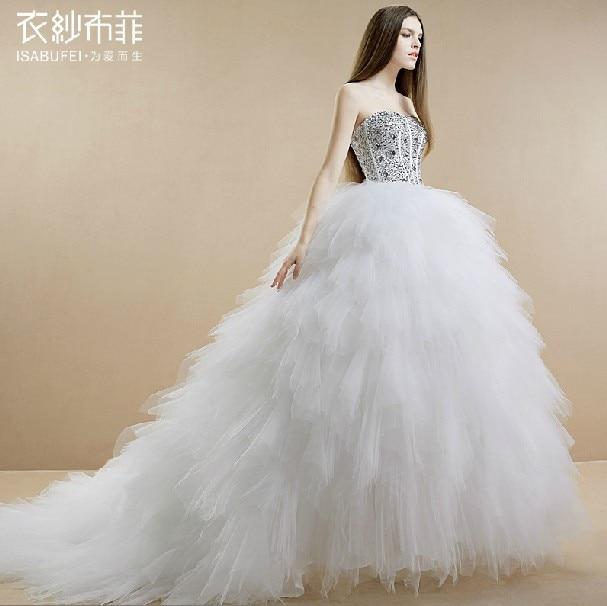 free shipping ball gown robe de soiree 2016 new hot casamento long vestido de noiva bandage crystal wedding Dresses bridal gown