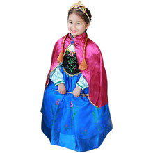 2017 New Girl Dress Girl's Princess Summer Snow Queen Diamond Dresses Baby Kids Clothes Costume Children Clothing free shipping(China)