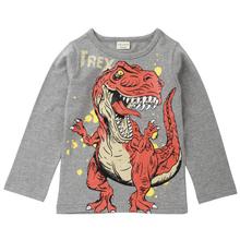 Kids T Shirt For Boys Dinosaur Pattern Baby Girl Tshirt  Autumn 2018 Girls Tops 100% Cotton Children Clothes Long Sleeve T-Shirt
