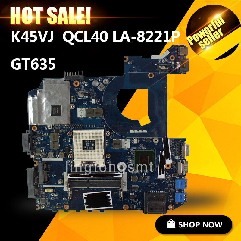 все цены на SAMXINNO For ASUS K45VJ QCL40 LA-8221P motherboard fit K45VJ K45VD A45V A85V K45VS K45VM Mainboard 100% tested онлайн