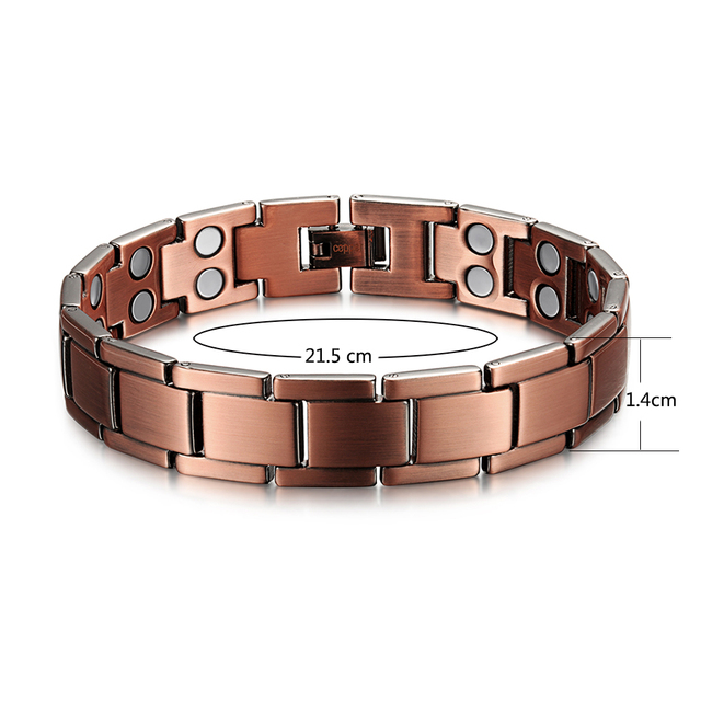 Купить welmag исцеляющий магнитный браслет винтажный медный 2 ряда