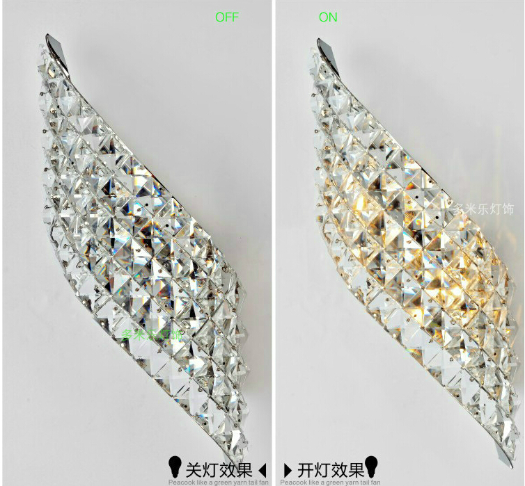 Free Shipping LED Crystal Wall Lamps Wall Sconce Modern LED Crystal Lamp Light with 2L Home Indoor Outdoor Lighting Decoration  mirror high quality k9 crystal led wall lamp sconce post modern coffee shop decatarion lighting fixture indoor wall lamps abajur