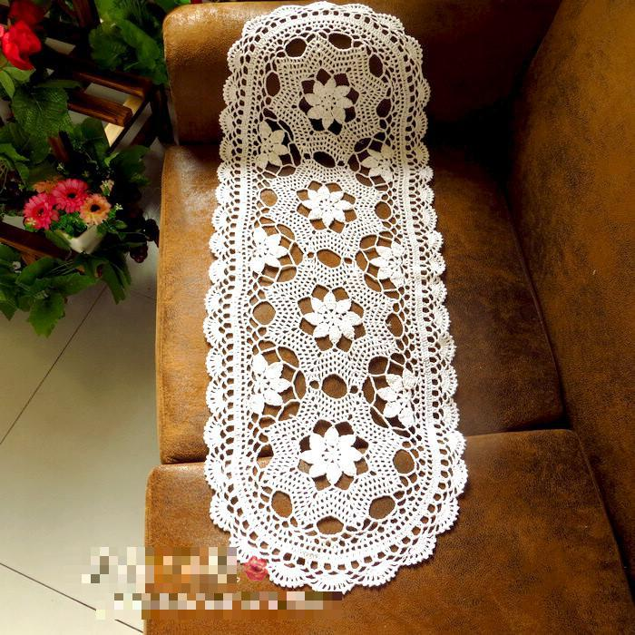 Contemporáneo Knitted Table Runner Lace Pattern Friso - Manta de ...