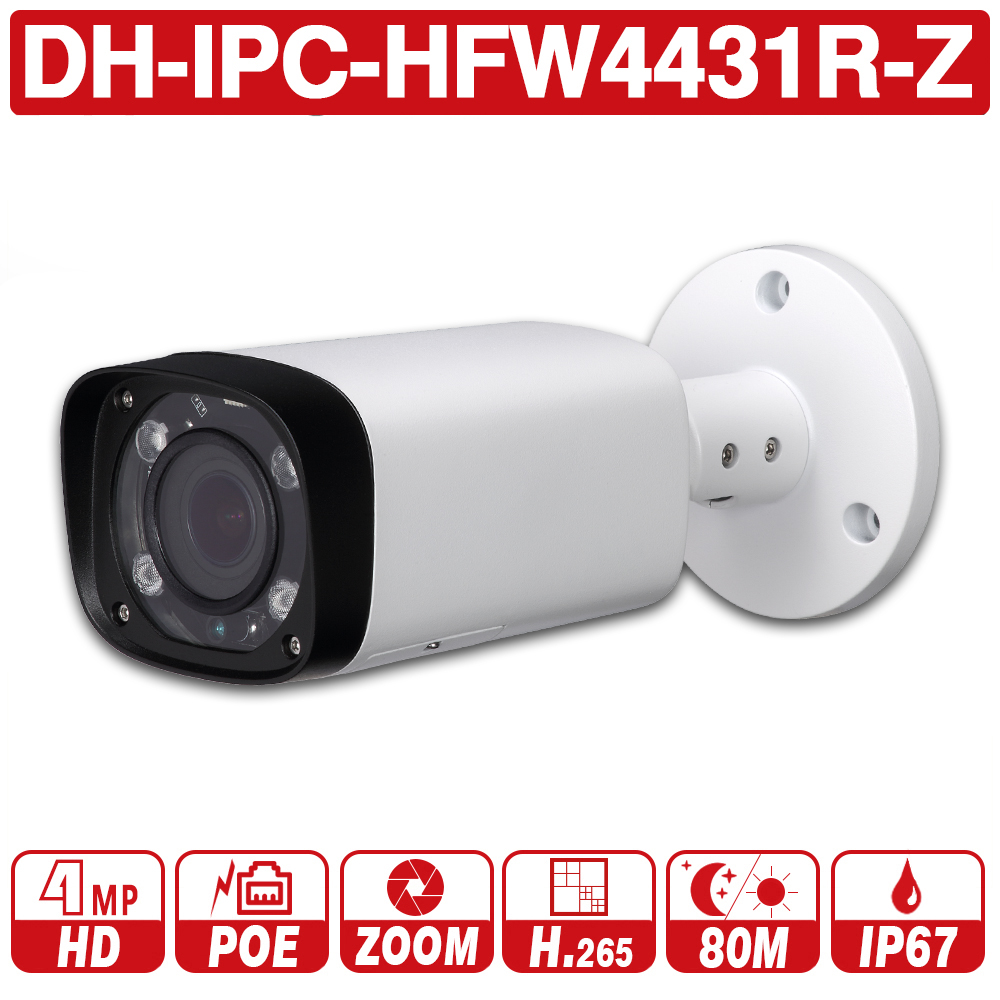DH with logo IPC HFW4431R Z 4MP Night Camera 80m IR 2 7 12mm VF lens