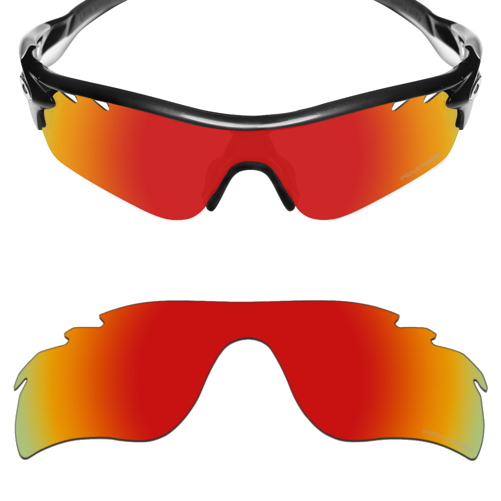 Mryok+ POLARIZED Resist SeaWater Replacement Lenses for Oakley RadarLock Path Vented Sunglasses Fire Red