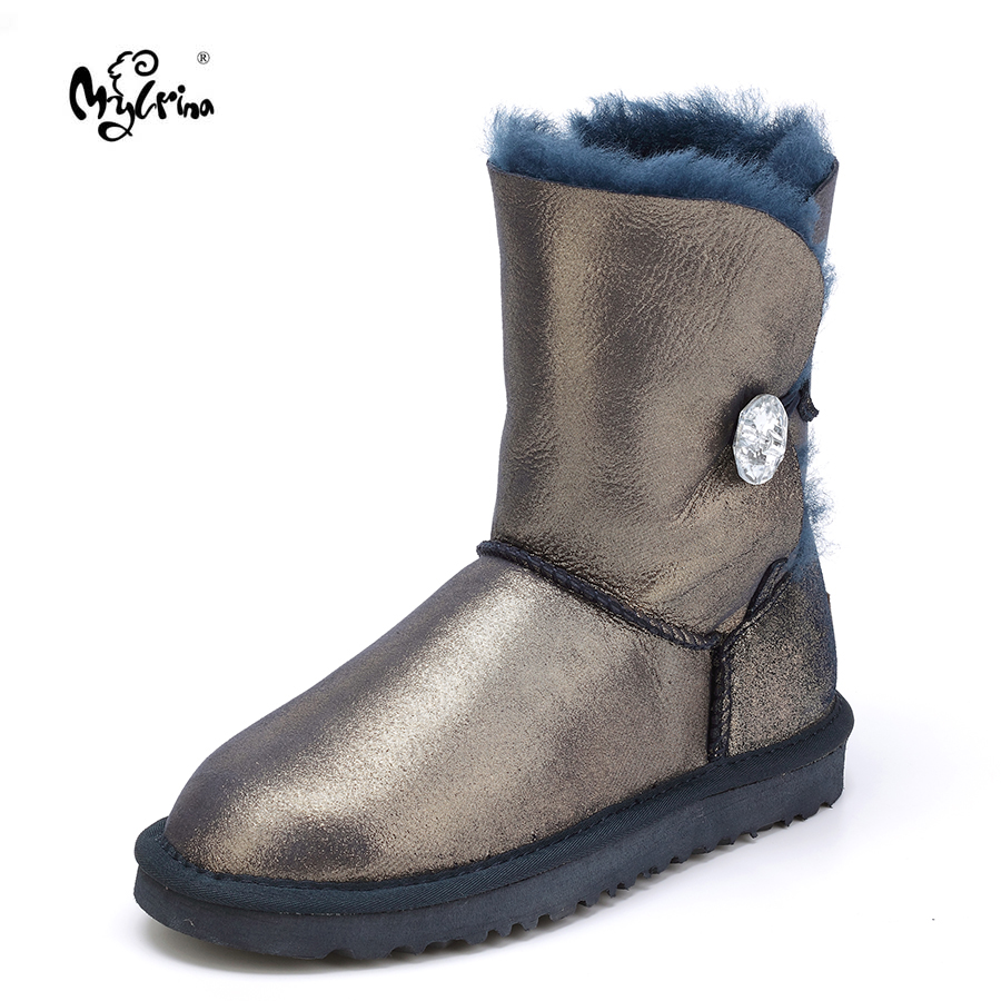 MYLRINA High Quality! genuine Sheepskin Real Fur 100% Wool women winter snow boots, China Brand boots Free Shipping miyagina high quality genuine sheepskin real fur 100