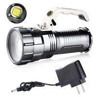 2000 Lümen Cree XM-L T6 LED El Feneri Lambası Taşınabilir Kamp Bisiklet Fener El Torch + AC Şarj
