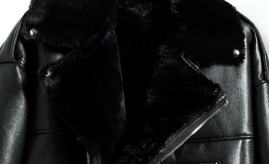 Mode Faux Noir Weman Manteau Veste Black 2017 Imitation Chaud Pq063 Lâche Long Haute Col Parkas Moyen Nouvelle Fourrure De D'hiver Rabattu AU58n0q5