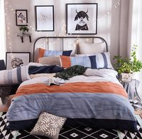 Tendance géométrique ensemble de literie pour adultes enfant adolescent garçon, coton plein reine moderne confortable textile de maison drap taie d'oreiller housse de couette