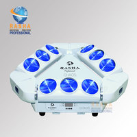 Big Promotion Rasha 9*12W 4in1 RGBW LED Spider Light,Triangle DMX Pixel LED Spider Beam For Stage Event Party,12/43CH