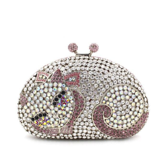 d9d5d60448 NATASSI Cat Shape Luxury Crystal Clutch Bag Wholesale Beautiful ...