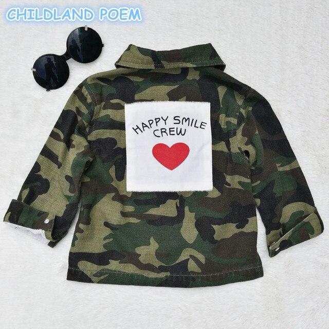 dd67e5654 2017 autumn kids camouflage clothes denim baby boys girls jacket ...