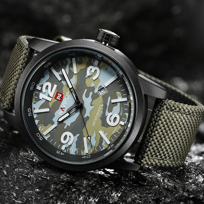 Prix pour 2016 Nouvelle De Luxe Top Marque NAVIFORCE Hommes Armée Militaire Montres Hommes de Sport Horloge À Quartz Étanche Montre-Bracelet Relogio Masculino