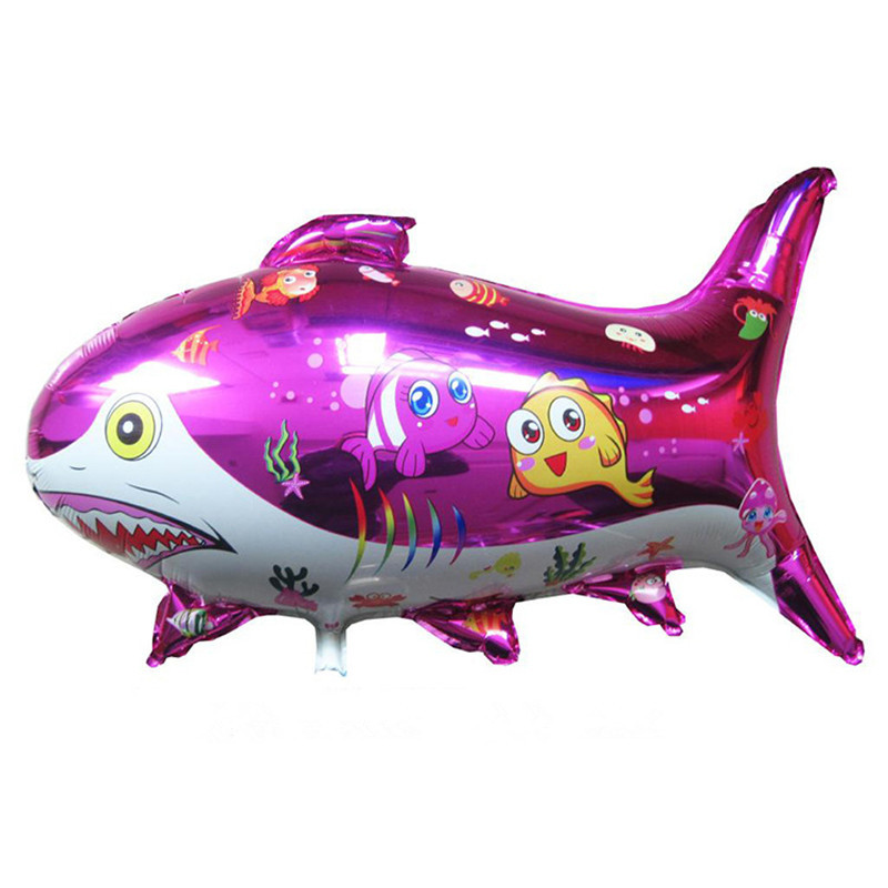BINGTINA 1pcs Hot large shark animal shaped aluminum balloons wholesale cartoon