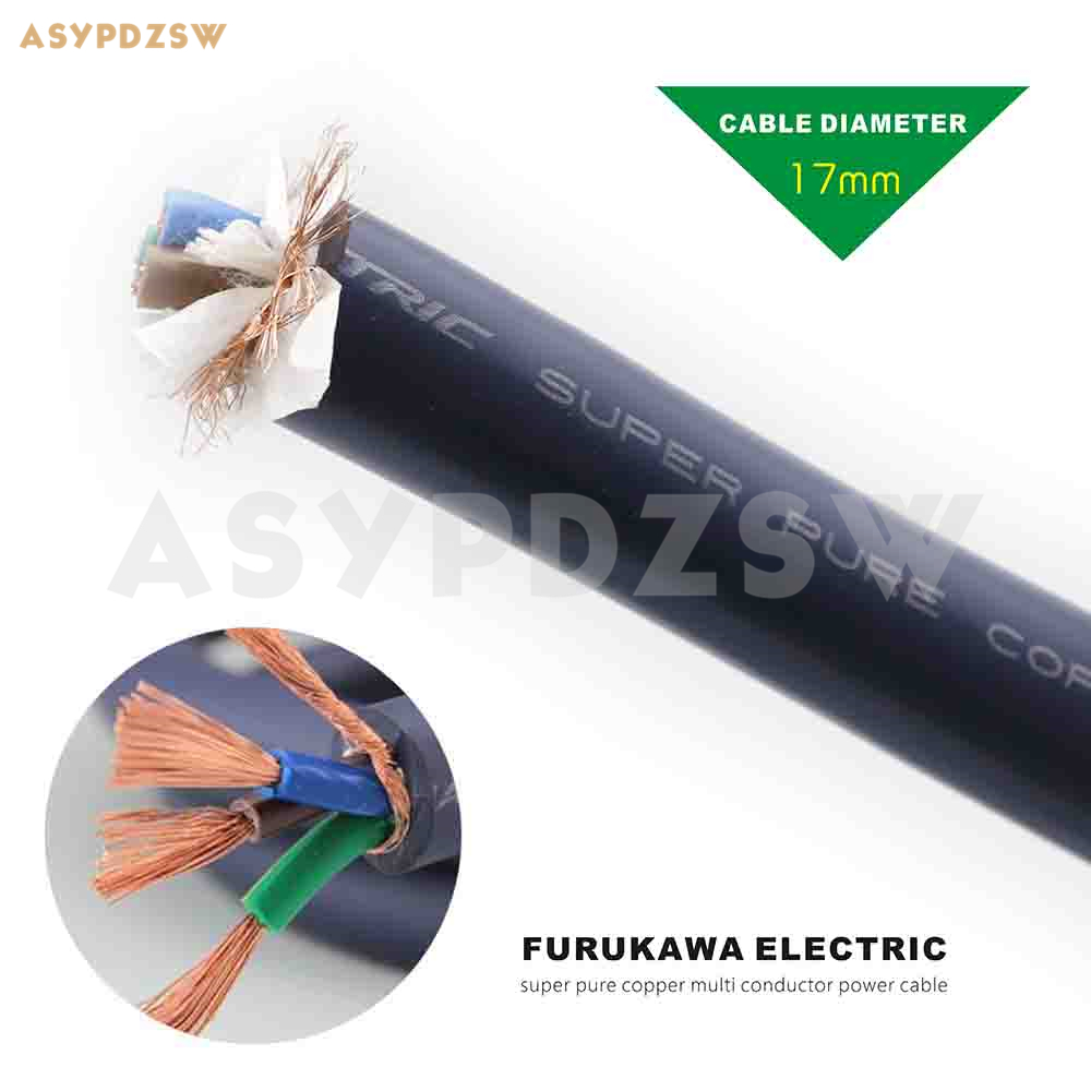 Cable de alimentación 20 mm² 100/% cobre made in Germany OFC METERWARE High End